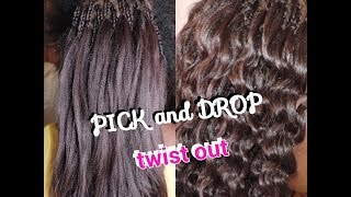 HOW TO: PICK AND DROP | TWIST OUT | WITH  XPRESSION/KANEKALON HAIR