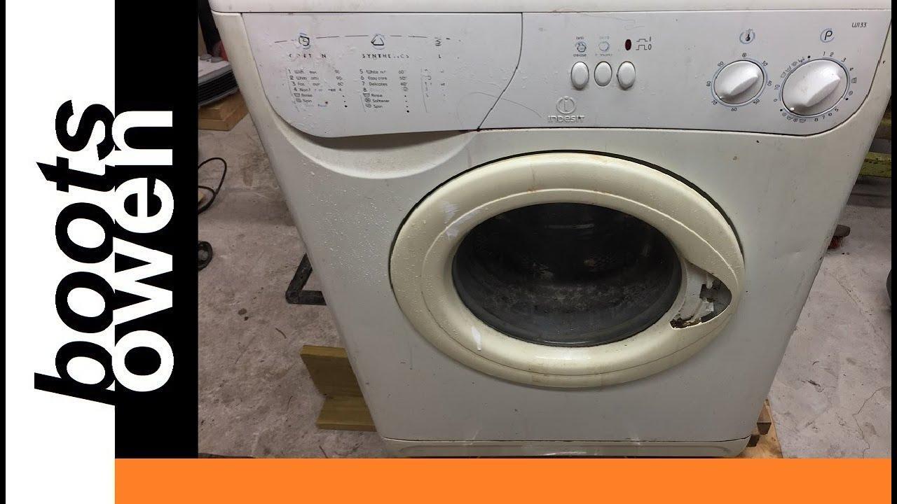 Indesit W133 washing machine motor wiring - YouTube