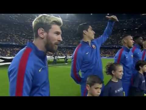 Camp Nou Whistles UEFA UCL Anthem vs. Manchester City