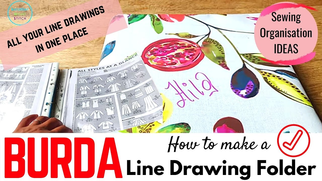 How to Organise Your BURDA Sewing Pattern Magazine LINE DRAWINGS in one Place for EASY ACCESS
