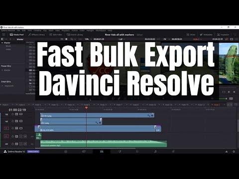 Fast Bulk Exporting with Davinci Resolve