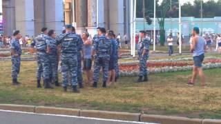 Быдло ВДВшники Против Полиции в Москве. День ВДВ 02,08,2017
