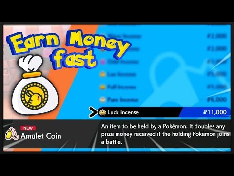 How to Earn Money Fast in Pokémon Sword and Shield, Where to Find the Amulet Coin & The luck Incense