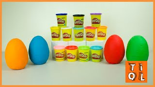 English Language Concept Learning Video | Toddler and Preschool Learning with Play-Doh Surprise Eggs