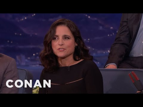 """Julia Louis-Dreyfus: We Don't Say """"P****"""" On """"VEEP"""" Because Of Trump  - CONAN on TBS"""