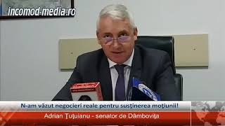 Adrian Ţuţuianu, senator: Nu am văzut negocieri reale pentru susţinerea moţiunii de cenzură!
