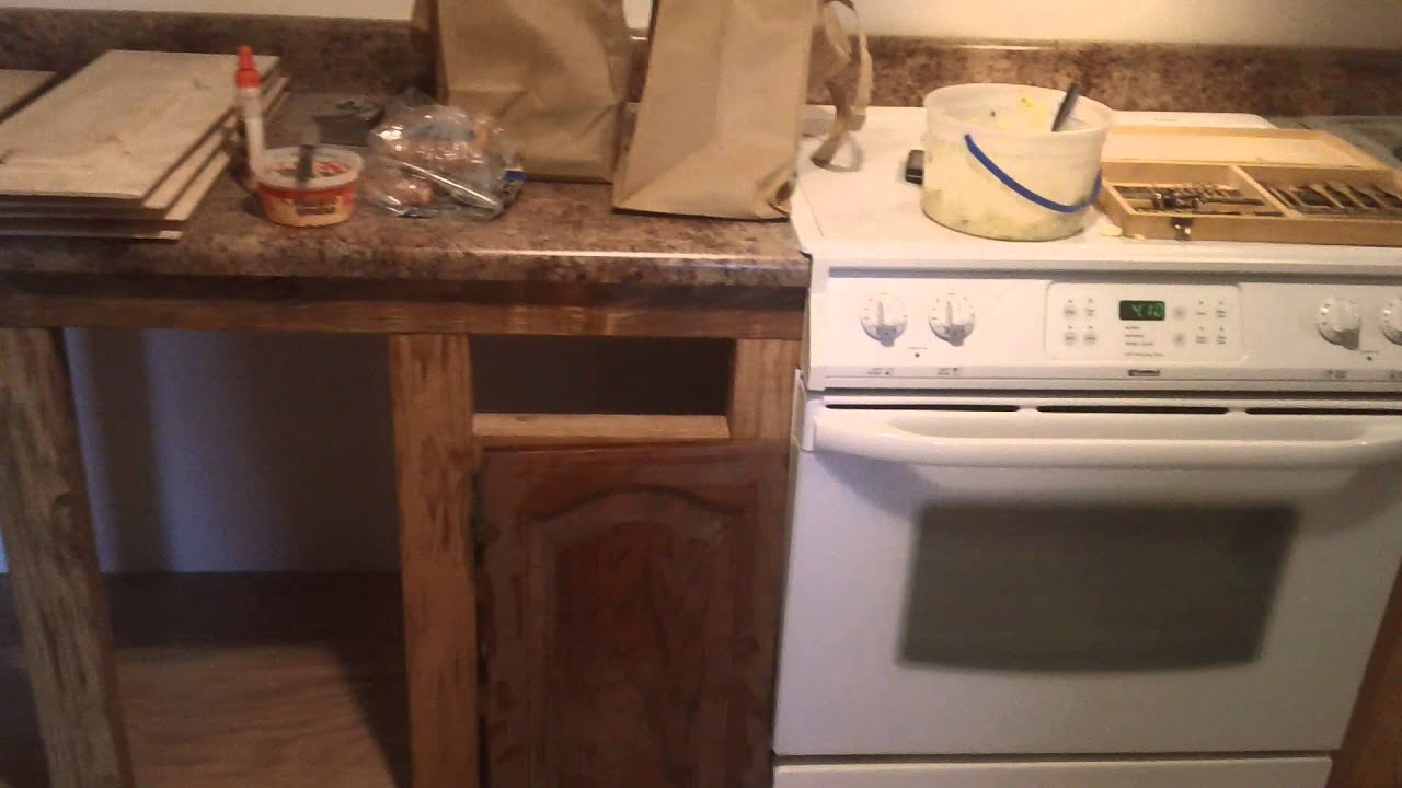 Home made Kitchen cabinets remodeling a double wide