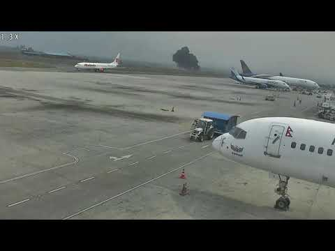 US Bangla plane crash cctv footage at Kathmandu Airport