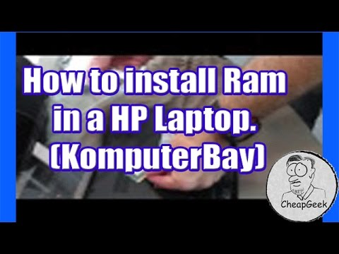 How to install Ram in a HP Laptop. (KomputerBay)
