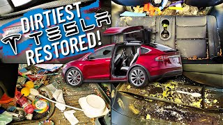 Car Detailing The Dirtiest Tesla Model X Ever... Interior Restoration How  To. - YouTube