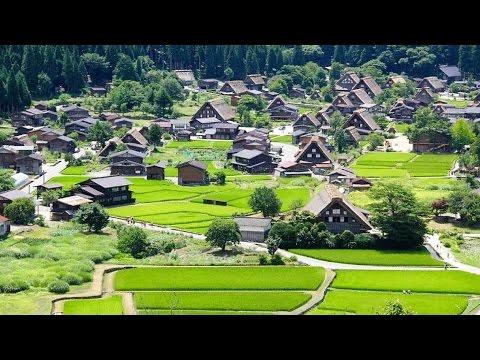 Shirakawa-Go Drone Footage Japan 4K/Cиракава-го Япония/白 川 郷