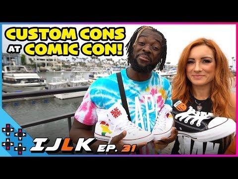 Becky Lynch And Kofi Kingston's CUSTOM CONVERSE KICKS At Comic-Con 2019!: I Just Love Kicks #31