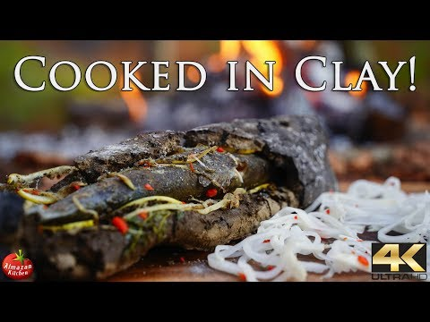 ANCIENT COOKING TECHNIQUE ! - Fish In Clay Recipe 4K