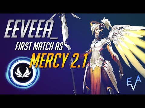 EeveeA's First Comp match with Mercy 2.1