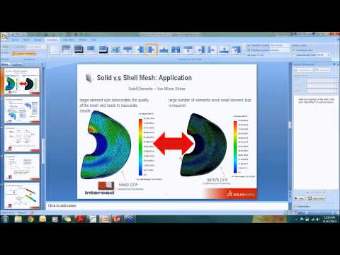 Shell Meshing in SolidWorks Simulation