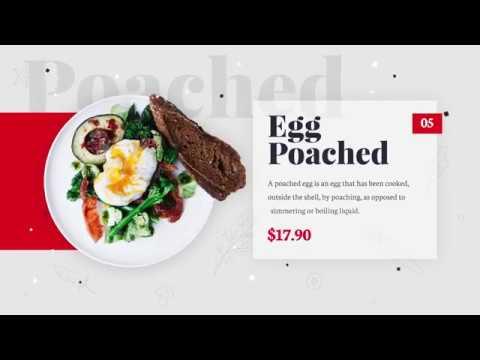 Шаблон видеорекламы меню кафе ресторана паба бара РАДОДАР  Radodar.uk