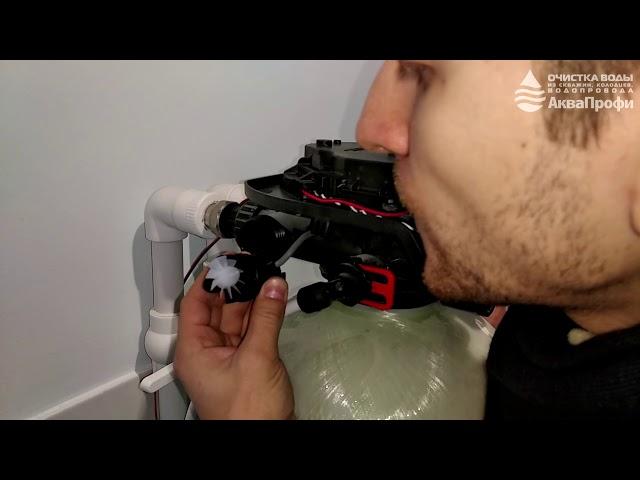 Клапан управления Clack не видит расход воды