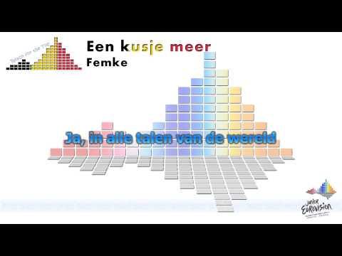 """Femke """"Een kusje meer"""" (Belgium) - [Karaoke]"""