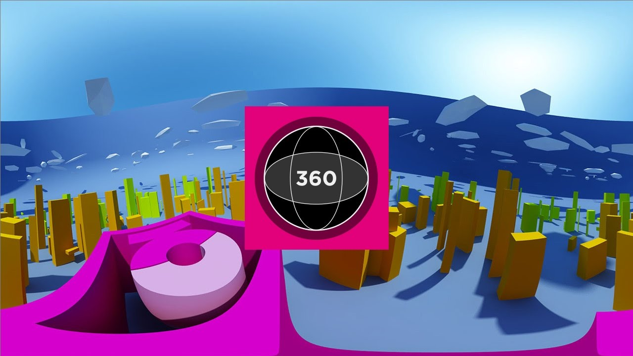 Testing 360 degree video | free Cinema 4D download with VRay