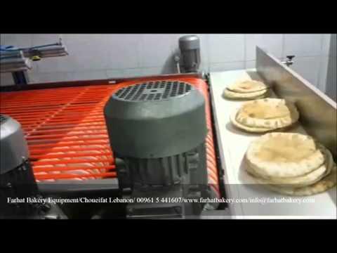 Stacking Counting Machine Flatbread, Pita, Lebanese Bread مكنه تستيف وعد خبز