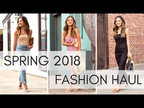 April 2018 Spring Try-On Fashion Haul | Revolve Shoe Haul, Zara, Asos and more!!