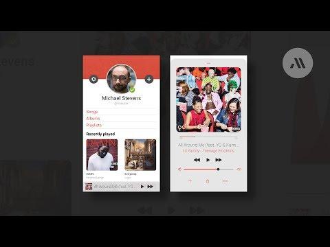 Music Player UI Speedart