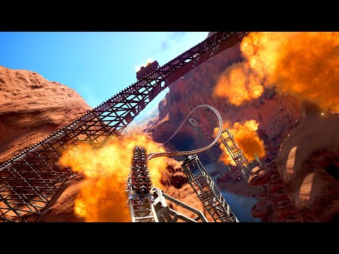 INSANE BACKWARDS! Runaway Mine Chase Coaster! POV! |