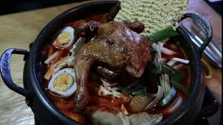 Korean Army Stew with Fried Chicken in Busan | 2bearbear.com