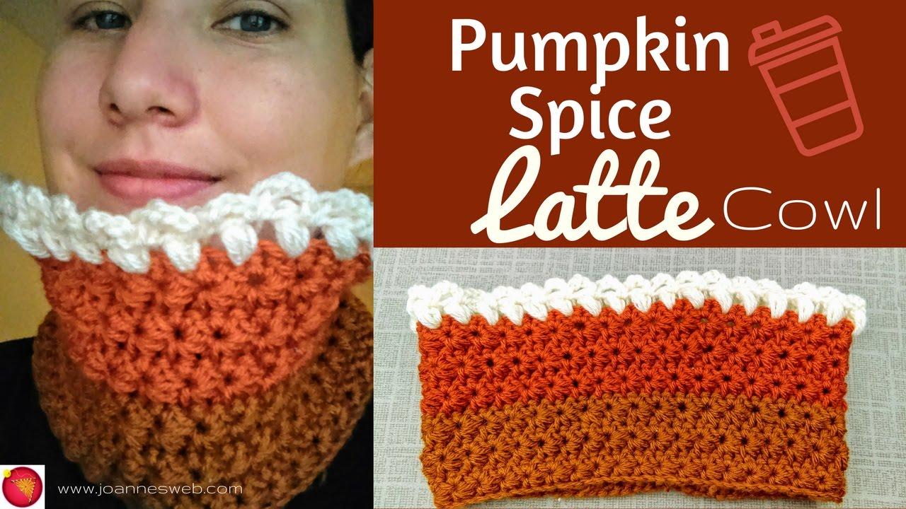 Pumpkin Spice Latte Cowl Crochet Jasmine Stitch Holidays 2016 DIY ...