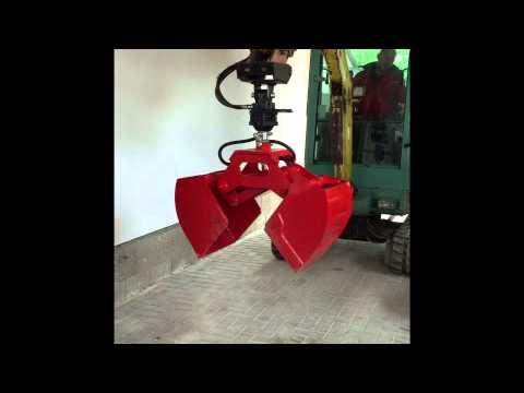 greifer f r minibagger vorf hrzwecke youtube. Black Bedroom Furniture Sets. Home Design Ideas
