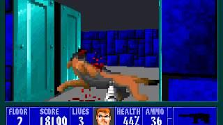 Wolfenstein 3D MS-DOS Version Gameplay