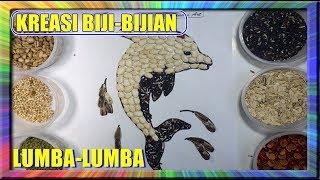 Waoww  Melukis Lumba Lumba Dari Biji Kacang Kreasi kolase Biji bijian coloring for kids with collage