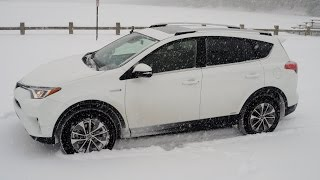 Rav4 Hybrid SNOW Test Drive Review POV Dec 2016
