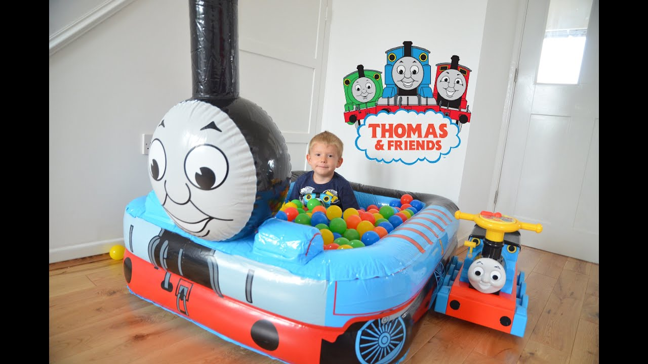 Huge Thomas and Friends Ball Pit Inflatable GIant Toy Train Kids