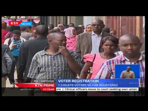 IEBC's report on voter registration shows that 1.5 million Kenyans so far have been listed