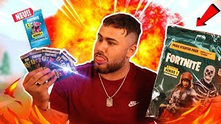 I OPEN original Fortnite BOOSTER PACKS! | I DRAW RECON EXPERT AND HOLO CARD!!