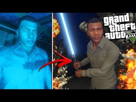 FRANKLIN finds a LIGHT SABER in Los Santos (GTA 5 Mods)