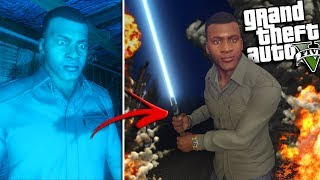 FRANKLIN finds a LIGHT SABER in Los Santos (GTA 5 Mods)