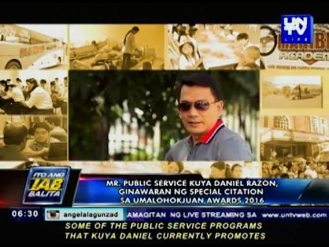 Mr. Public Service Kuya Daniel Razon ginawaran ng special citation sa UmalohokJuan Awards 2016