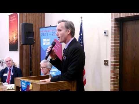 Robert Bierman introduces the District Governor - November 14,2013