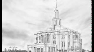 Payson Temple Drawing Timelapse