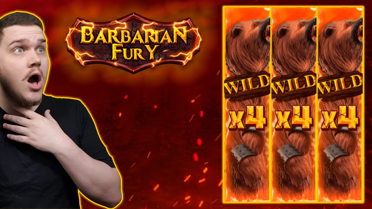 HUGE FULL SCREEN WIN ON BARBARIAN FURY (Nolimit City) - YouTube