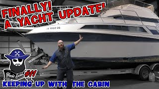 Yacht #10: Finally another update! The CAR WIZARD is keeping up with the cabin repairs!