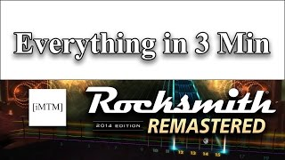 ROCKSMITH 2014 REMASTERED IN 3 MINUTES