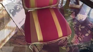How to clean a silk upholstered chair