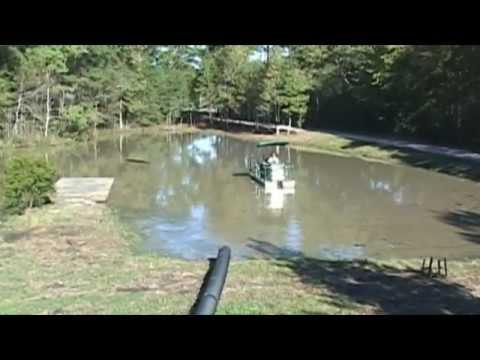 Pond Dredging Sediment And Heavy Vegetation Removal