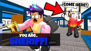 I CHEATED For 100% Sheriff In YouTuber Murder Mystery 2.. (Roblox)