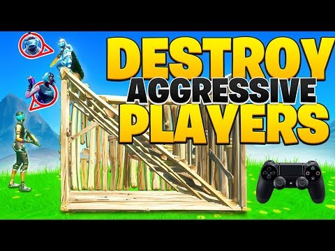 How To DESTROY Aggressive Players On Console Fortnite! (Fortnite PS4 + Xbox Tips)