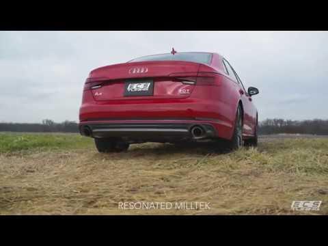 Audi B9 A4 Milltek Exhaust | Stock vs. Resonated vs. Non-Resonated