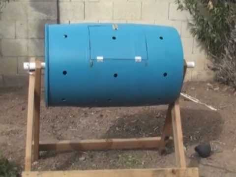 How To Make A Compost Tumbler Fast Cheap And Easy Youtube